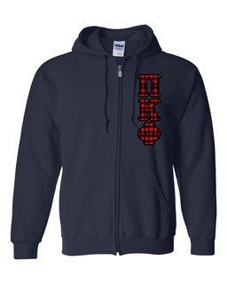 "Pi Kappa Phi Heavy Full-Zip Hooded Sweatshirt - 3"" Letters!"