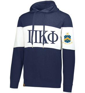 Pi Kappa Phi Ivy League Hoodie W Crest On Left Sleeve