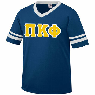 DISCOUNT-Pi Kappa Phi Jersey With Greek Applique Letters