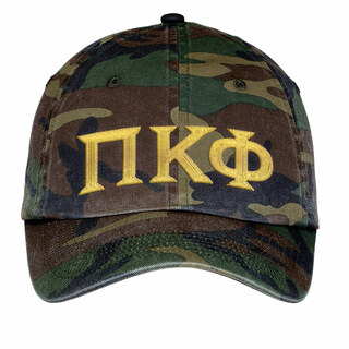 Pi Kappa Phi Lettered Camouflage Hat