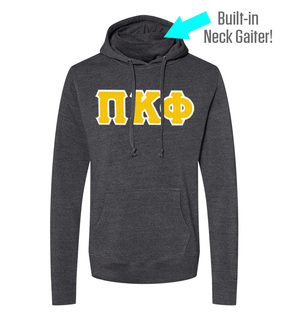 Pi Kappa Phi Lettered Gaiter Fleece Hooded Sweatshirt
