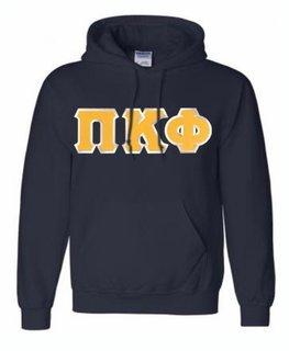 Pi Kappa Phi Lettered Greek Hoodie- MADE FAST!