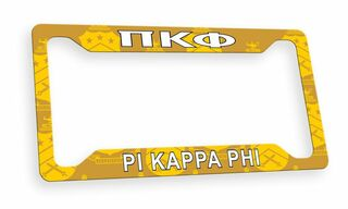 Pi Kappa Phi Custom License Plate Frame
