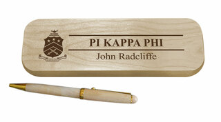 Pi Kappa Phi Maple Wood Pen Set