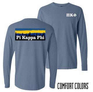 Pi Kappa Phi Outdoor Long Sleeve T-shirt - Comfort Colors