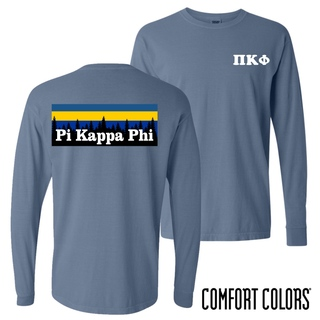 Pi Kappa Phi Outdoor Long Sleeve T-shirt - Comfort Colors