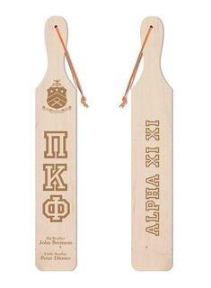 Pi Kappa Phi Old School Wood Greek Paddle