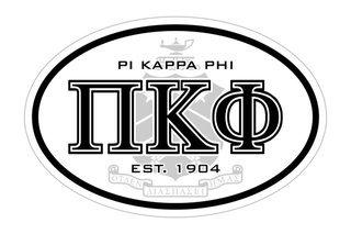 Pi Kappa Phi Oval Crest - Shield Bumper Sticker - CLOSEOUT