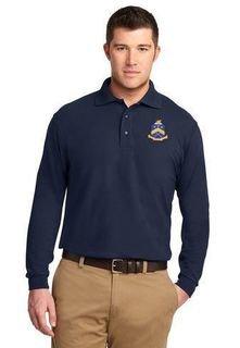 DISCOUNT-Pi Kappa Phi Emblem Long Sleeve Polo