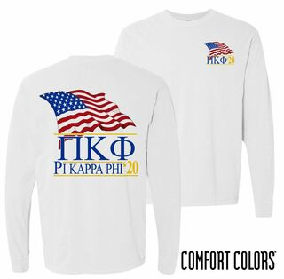 Pi Kappa Phi Patriot Long Sleeve T-shirt - Comfort Colors