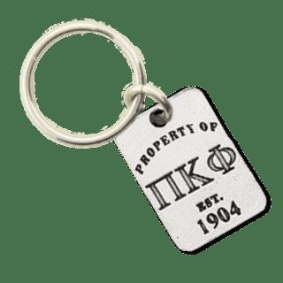 Pi Kappa Phi Property of Tag Keychain