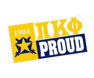 Pi Kappa Phi Proud Bumper Sticker - CLOSEOUT