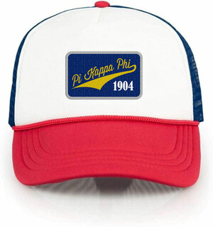 Pi Kappa Phi Red, White & Blue Trucker Hat
