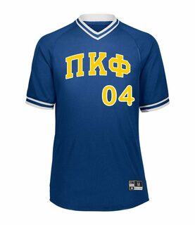 Pi Kappa Phi Retro V-Neck Baseball Jersey
