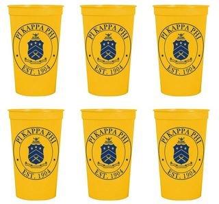 Pi Kappa Phi Set of 6 Big Plastic Stadium Cups