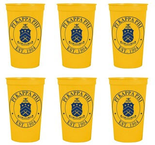 Pi Kappa Phi Set of 6 Big Plastic Stadium Cups