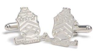 Pi Kappa Phi Sterling Silver Crest - Shield Cufflinks