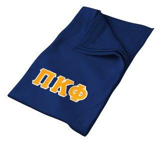 DISCOUNT-Pi Kappa Phi Twill Sweatshirt Blanket