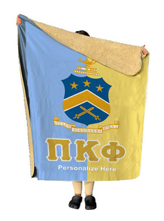 Pi Kappa Phi Two Tone Sherpa Lap Blanket