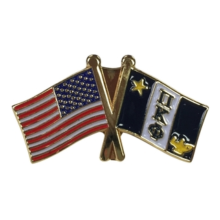 Pi Kappa Phi USA Flag Lapel Pin