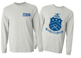 Pi Kappa Phi World Famous Crest - Shield Long Sleeve T-Shirt- $19.95!