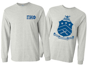 Pi Kappa Phi World Famous Crest - Shield Long Sleeve T-Shirt- $19.95!