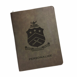 Pi Kappa Phi Zipper Leatherette Portfolio with Notepad
