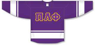 DISCOUNT-Pi Lambda Phi Breakaway Lettered Hockey Jersey