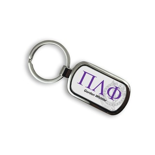 Pi Lambda Phi Chrome Crest - Shield Key Chain
