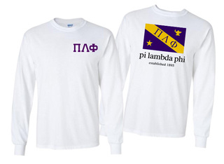 Pi Lambda Phi Flag Long Sleeve T-shirt