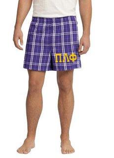 Pi Lambda Phi Flannel Boxer Shorts