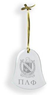 Pi Lambda Phi Glass Bell Ornaments