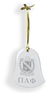 Pi Lambda Phi Glass Bell Ornaments