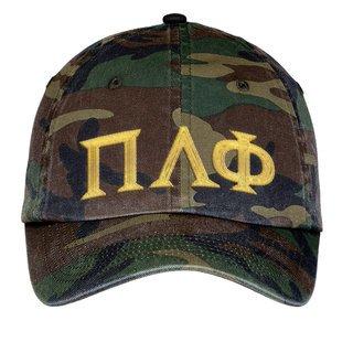 Pi Lambda Phi Lettered Camouflage Hat