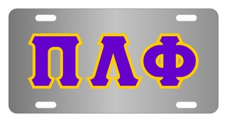 Pi Lambda Phi Lettered License Cover