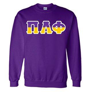 Pi Lambda Phi Two Tone Greek Lettered Crewneck Sweatshirt