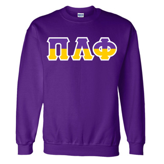 Pi Lambda Phi Two Tone Greek Lettered Crewneck Sweatshirt