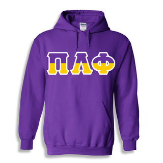 Pi Lambda Phi Two Tone Greek Lettered Hooded Sweatshirt