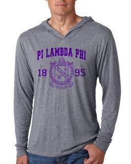 Pi Lambda Phi Unisex Triblend Long-Sleeve Hoodie