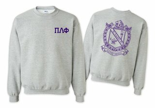 Pi Lambda Phi World Famous Crest - Shield Printed Crewneck Sweatshirt- $25!