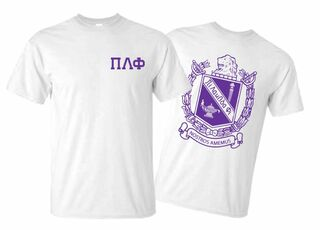 Pi Lambda Phi World Famous Crest - Shield Tee