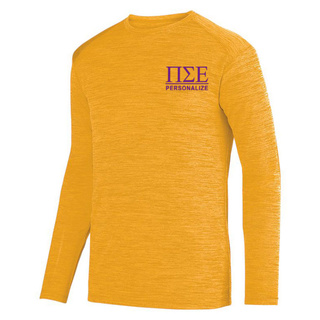 Pi Sigma Epsilon- $26.95 World Famous Dry Fit Tonal Long Sleeve Tee
