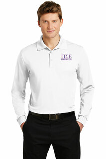 Pi Sigma Epsilon- $35 World Famous Long Sleeve Dry Fit Polo