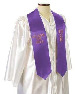 Pi Sigma Epsilon Embroidered Graduation Sash Stole