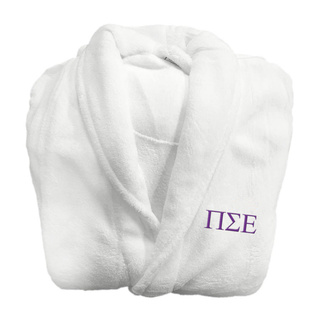 Pi Sigma Epsilon Lettered Bathrobe