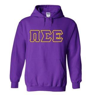 Pi Sigma Epsilon Sewn Lettered Hooded Sweatshirts