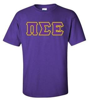 Pi Sigma Epsilon Sewn Lettered T-Shirt