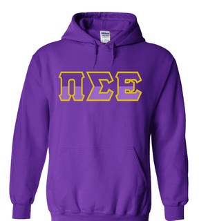 Pi Sigma Epsilon Two Tone Greek Lettered Hooded Sweatshirt
