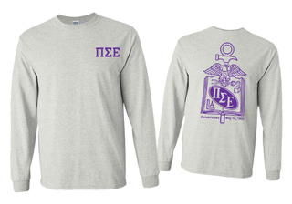 Pi Sigma Epsilon World Famous Crest - Shield Long Sleeve T-Shirt- $19.95!