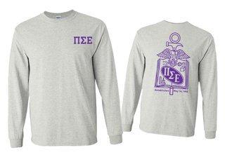 Pi Sigma Epsilon World Famous Crest - Shield Long Sleeve T-Shirt- $19.95!